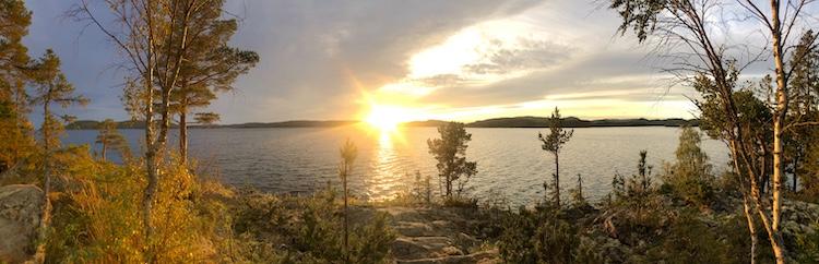 Sunset at the bay near Häggnor