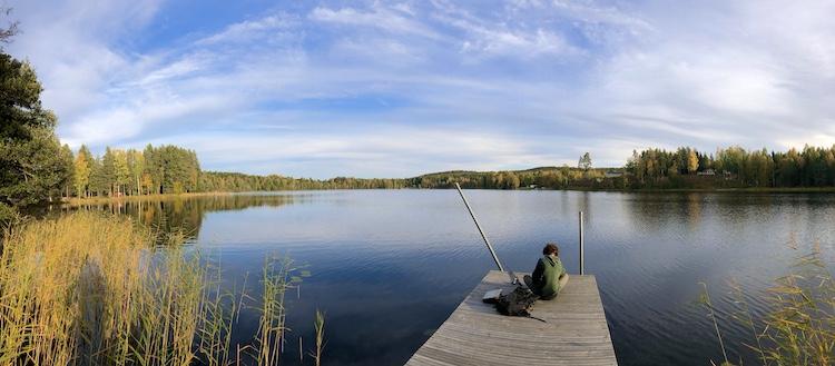 Fishing at Torrsjö