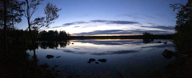 Sunset at Åsbölesjön