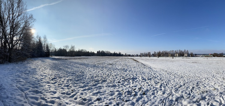 Winter landscape at the Allgäu