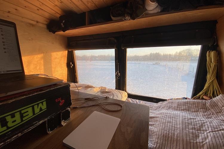 Sun shining into my van