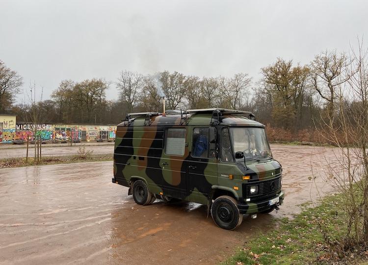 Van parked near Opfinger See