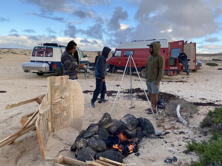 BBQ at Playa Punta Blanca