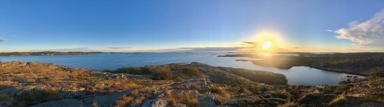 Sunset at Tofta nature reserve