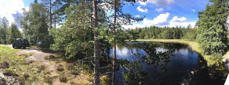 Spot next to a river near Flötemarken