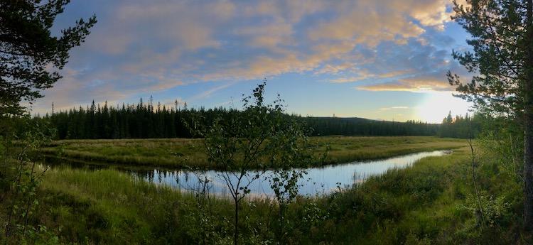 River in front of Fulufjället national park