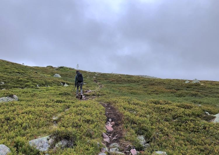 Climbing the Fulufjället massif