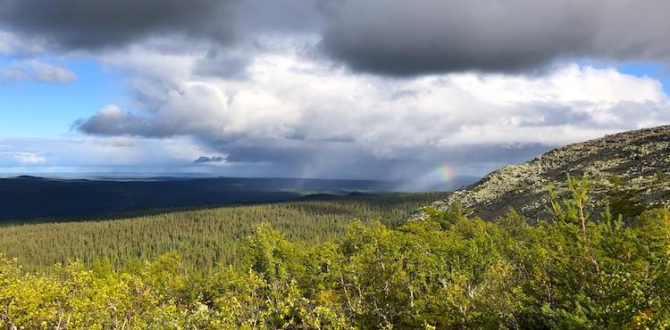 Rainbow at Fulufjället national park