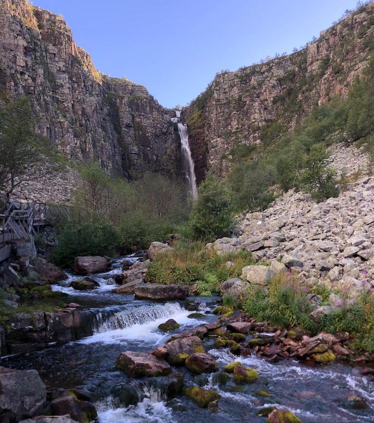 Njupeskärs waterfall