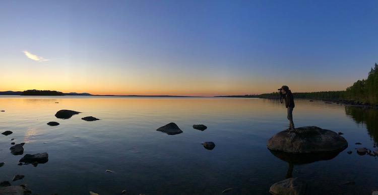 Twilight at lake Storsjön