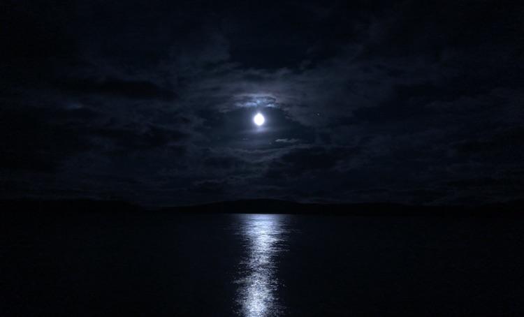 Moon above Torneträsk