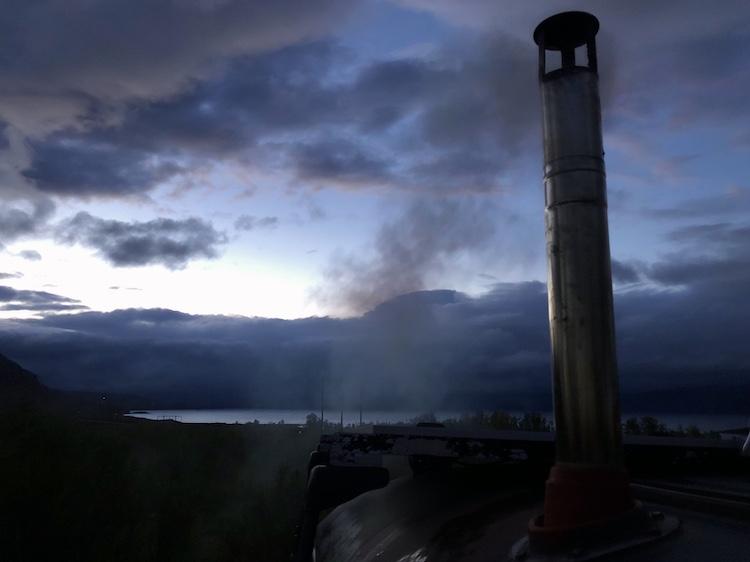 Smoke and sky above Abisko