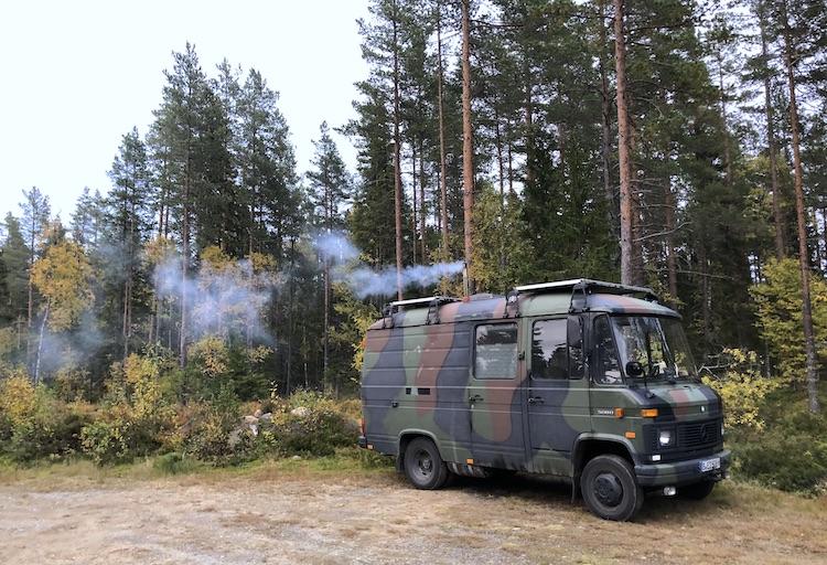 Van parked near Mäjasjön