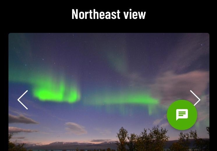 Screenshot of the webcams accessible through the Lights over Lapland website